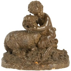 Terracotta after Clodion, a Wildlife and Aries, Napoleon III, 19th Century