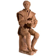 Terracotta Bozzetto of a Beggar, Florence, circa 1600