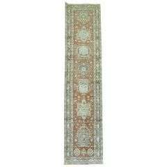 Terracotta Brown Antique Persian Heriz Runner