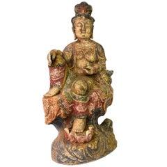 Terracotta Buddha Statue Kwan Yin Tang Style Bodhisattva