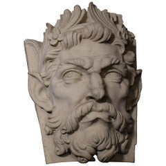 Terracotta Building Ornament, Mask of Satyr