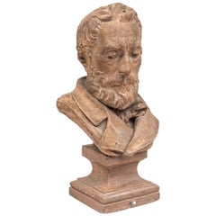 Terracotta Bust Figuring a Man, 1878