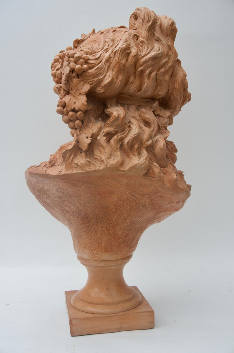 Art Nouveau Terracotta Bust For Sale