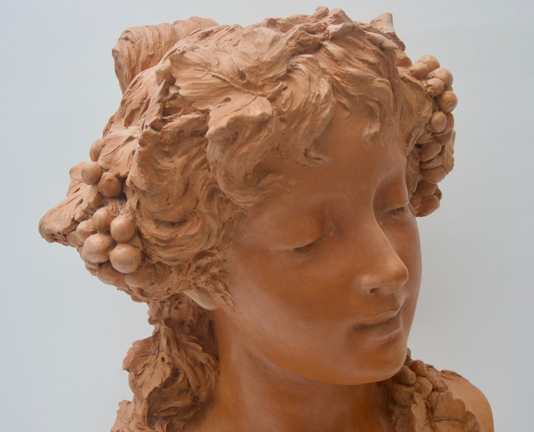 Terracotta Bust In Good Condition For Sale In West Palm Beach, FL