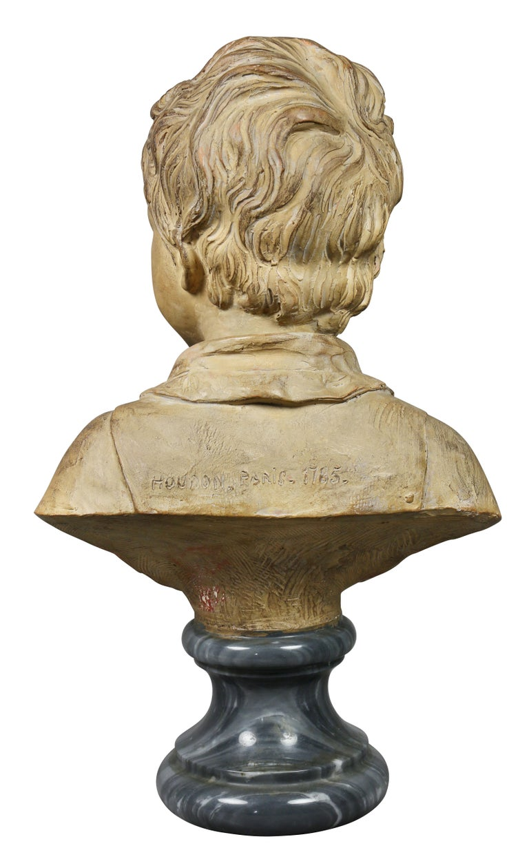 Terracotta Bust of a Young Boy by Houdon For Sale 1