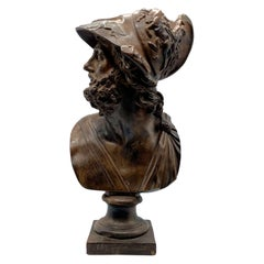 Terracotta Bust of Greek Mythological Warrior Ajax