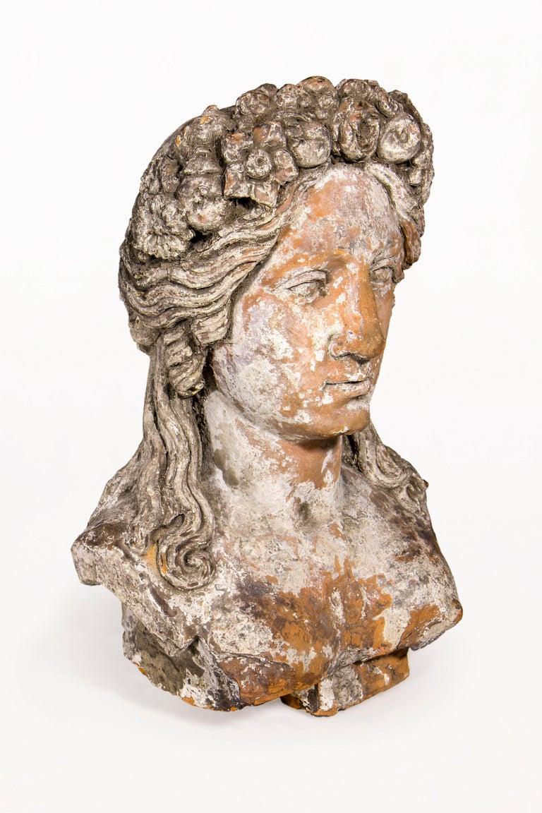 Terracotta Bust Sculpture Of Persephone 18th Century