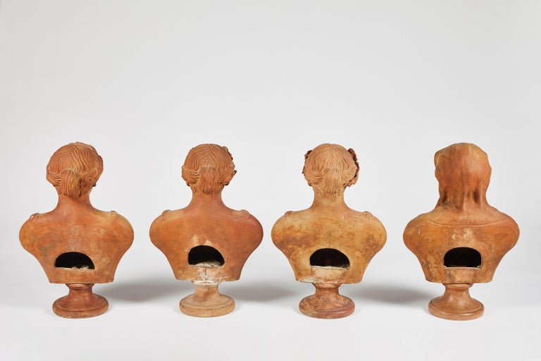Terracotta Busts of the Seasons, Set of Four For Sale 7