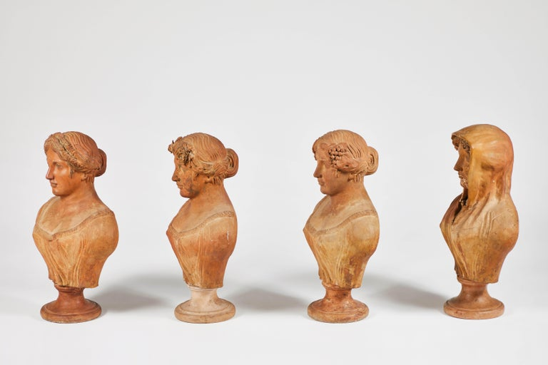 Terracotta Busts of the Seasons, Set of Four For Sale 8