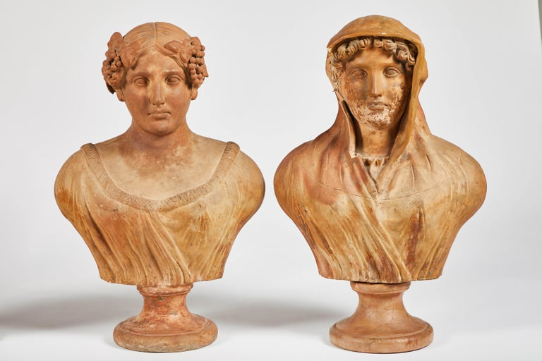 Italian Terracotta Busts of the Seasons, Set of Four For Sale