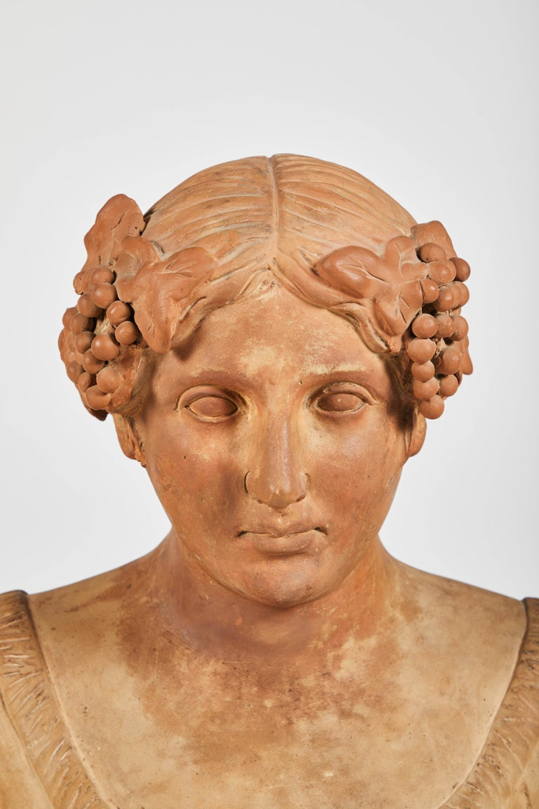 19th Century Terracotta Busts of the Seasons, Set of Four For Sale
