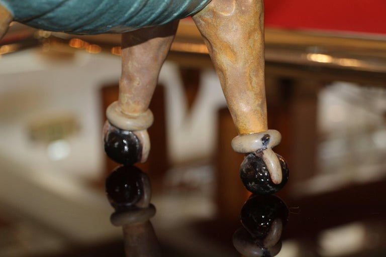 Terracotta Comic Caricature of a Dog on Wheels For Sale 4