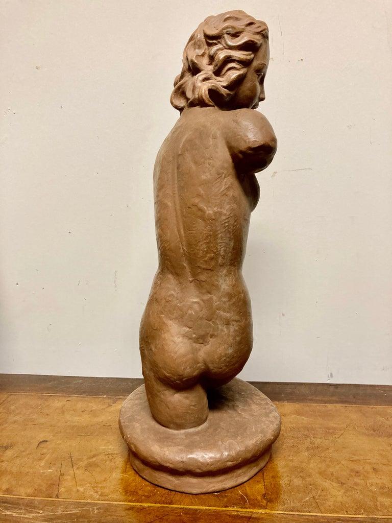 Terracotta Female Nude, Austrian Art Deco, Goldscheider, Vienna For Sale 5