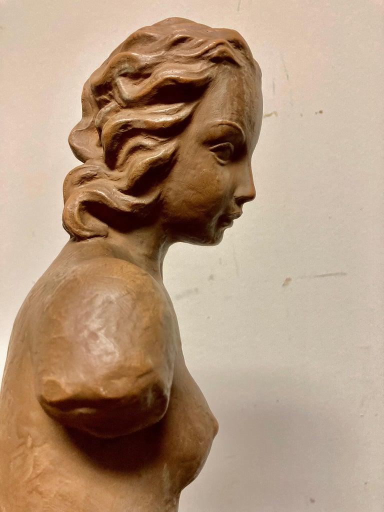 Terracotta Female Nude, Austrian Art Deco, Goldscheider, Vienna For Sale 6