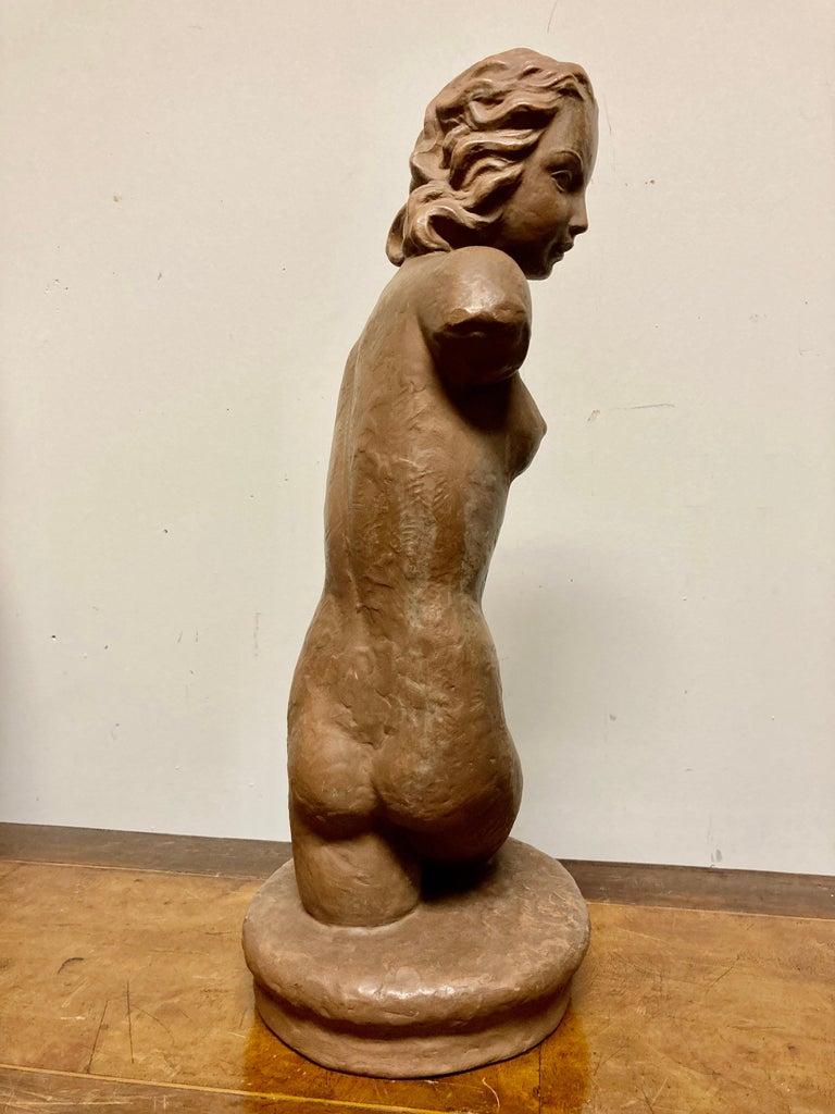 Terracotta Female Nude, Austrian Art Deco, Goldscheider, Vienna For Sale 7