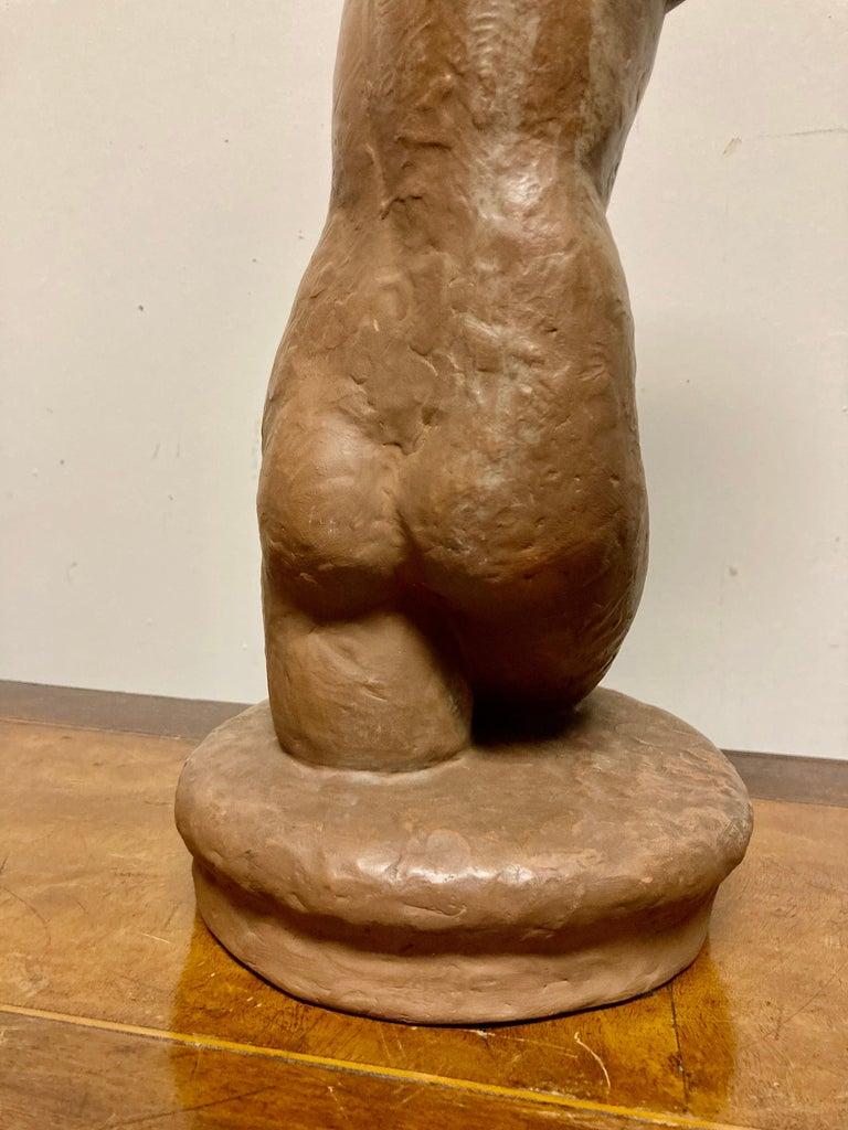 Terracotta Female Nude, Austrian Art Deco, Goldscheider, Vienna For Sale 9