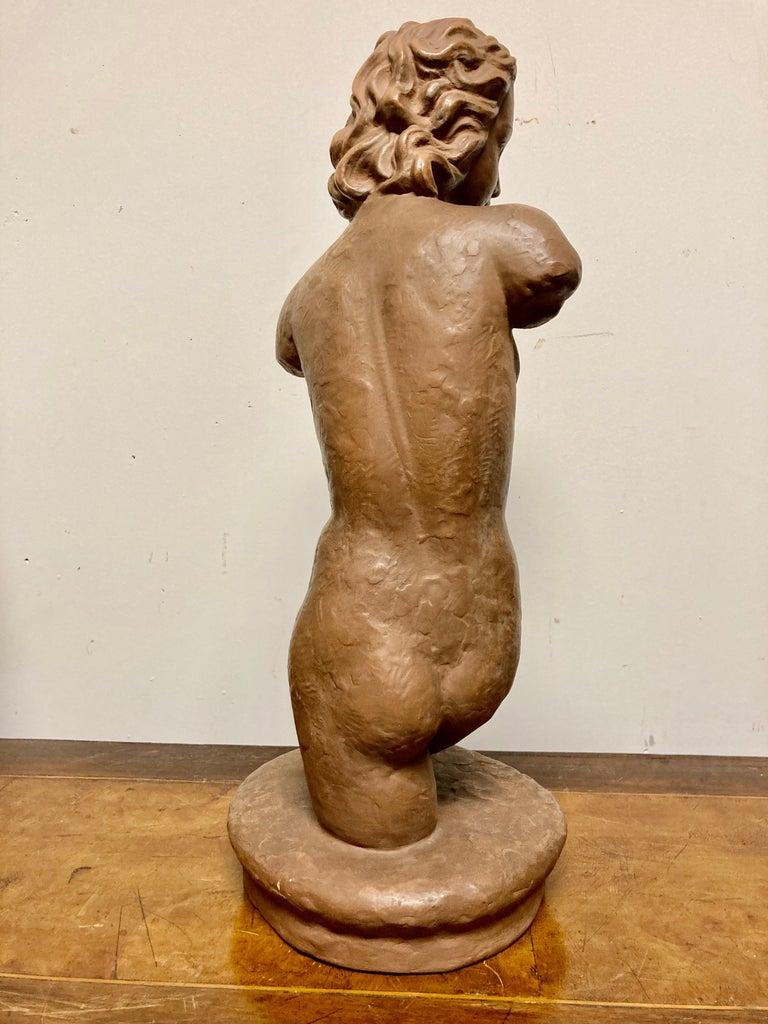 Terracotta Female Nude, Austrian Art Deco, Goldscheider, Vienna For Sale 10
