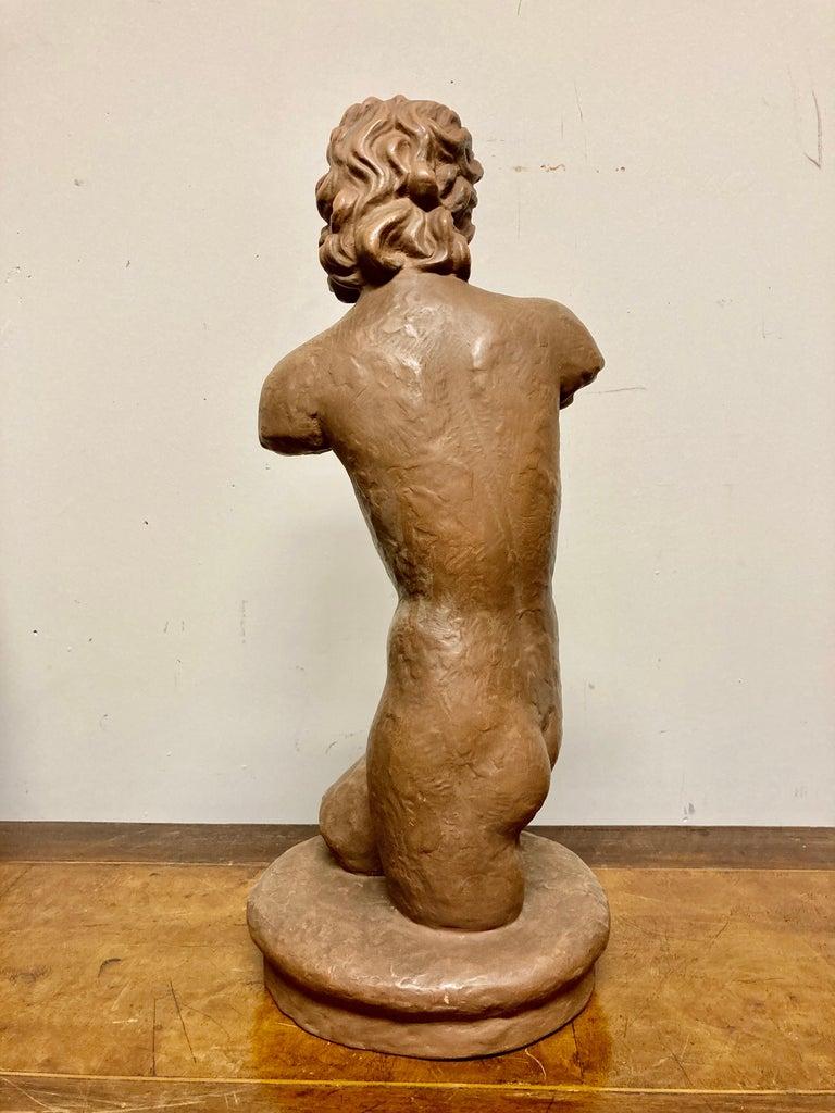 Terracotta Female Nude, Austrian Art Deco, Goldscheider, Vienna For Sale 11