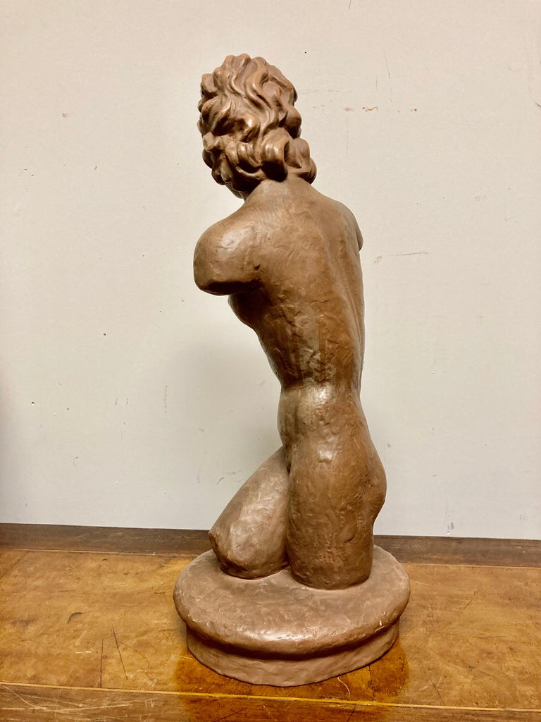 Terracotta Female Nude, Austrian Art Deco, Goldscheider, Vienna For Sale 12