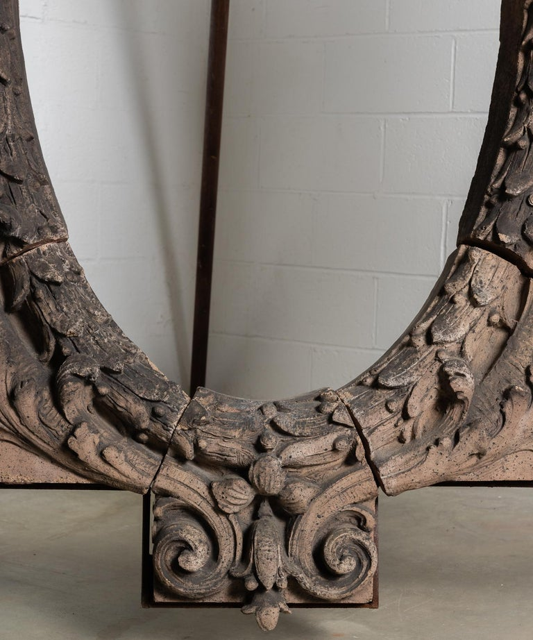 Terracotta Figural Architectural Window Surround, America 19th Century For Sale 3