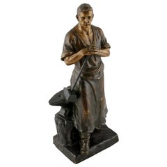 Terracotta Figure of a Blacksmith, 20th Century