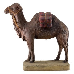 Terracotta Painted Camel, Midcentury