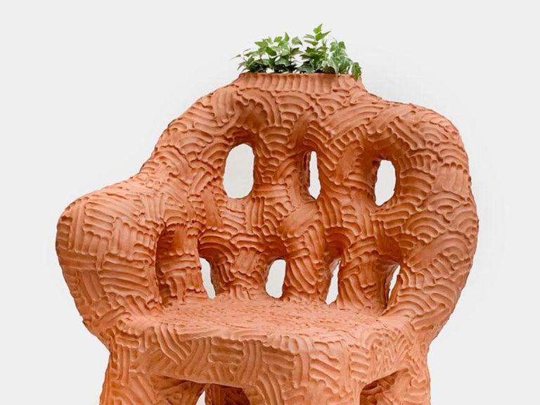 American Chris Wolston Terracotta Plant Chair
