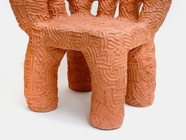 Hand-Crafted Chris Wolston Terracotta Plant Chair