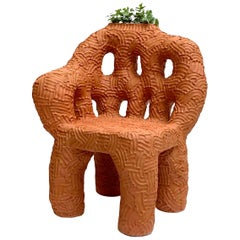 "Chris Wolston Terracotta Plant Chair ""Tatacoa"""