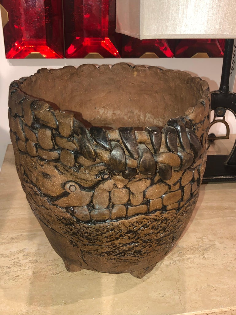 Mid-Century Modern Terracotta Pot For Sale