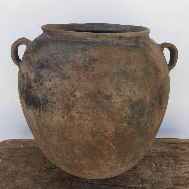Fired Terracotta Pot from Mexico For Sale