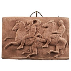 Terracotta Relief of Two Worriers on Horses