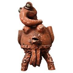 Terracotta Sculpture by Michel Hereman, 1970s