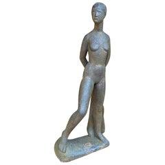 Terracotta Sculpture, Monogrammed Pm for Perugini Mario, circa 1960
