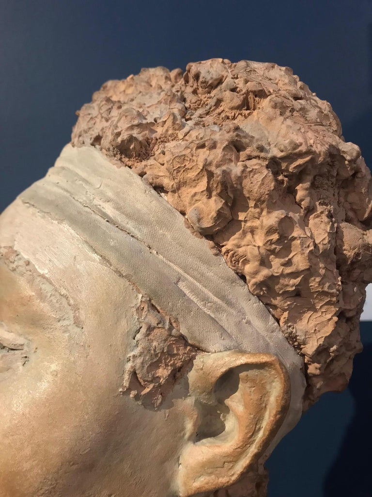 Mid-20th Century Terracotta Sculpture of an African Woman by Renzo Moscatelli For Sale