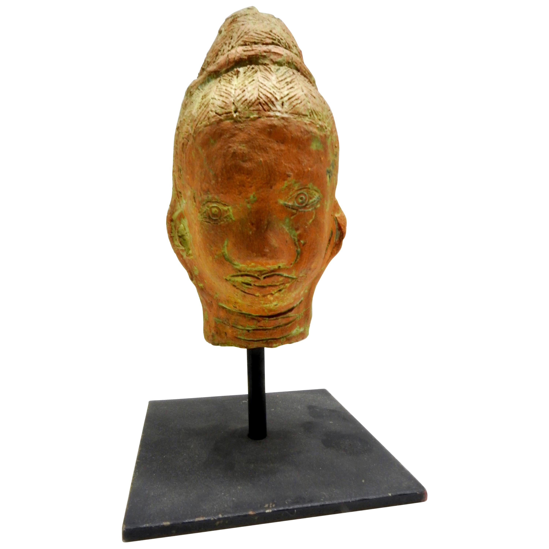 Terracotta Sculpture of Head, Thailand