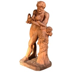 Terracotta Sculpture, Silenus and Bacchus