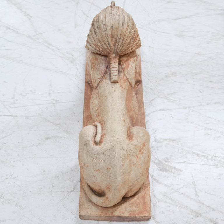 Terracotta Sphinxes, Second Half of the 20th Century For Sale 6