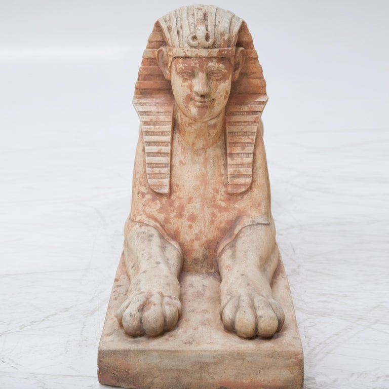 Terracotta Sphinxes, Second Half of the 20th Century For Sale 1