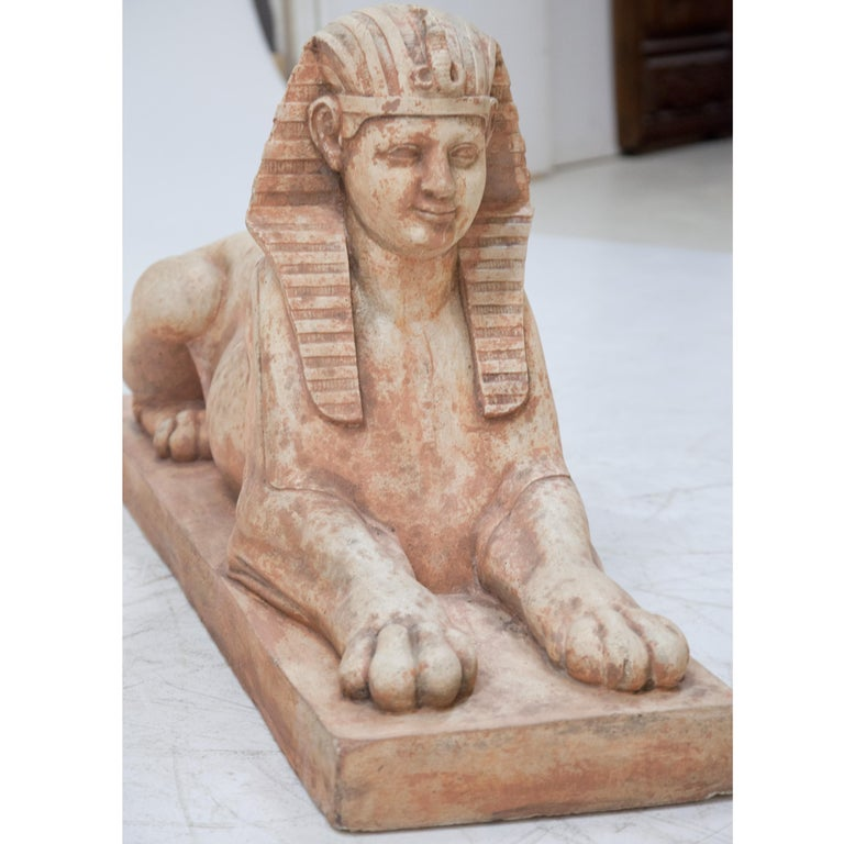 Terracotta Sphinxes, Second Half of the 20th Century For Sale 2