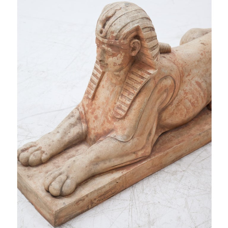 Terracotta Sphinxes, Second Half of the 20th Century For Sale 4