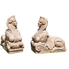 Terrakotta Sphinxe