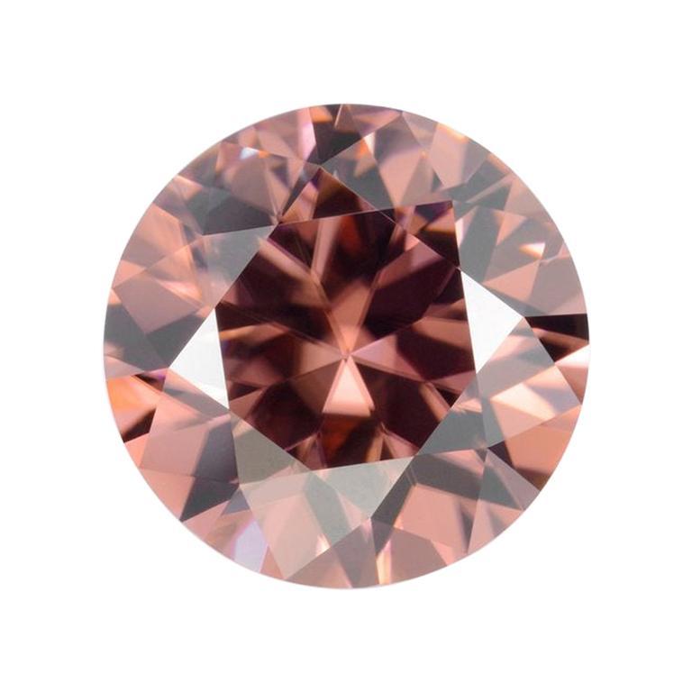 Terracotta Zircon Ring Gem 4.80 Carat Unset Round Loose Gemstone