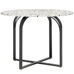 Terrazo Dining Table, Contemporary Round Table in Terrazzo Top