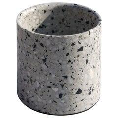 Terrazo Plant Pot, 'Yuan,' White, M, from Terrazo Collection by Bentu