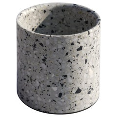 Terrazo Plant Pot, 'Yuan,' White, S, from Terrazo Collection by Bentu