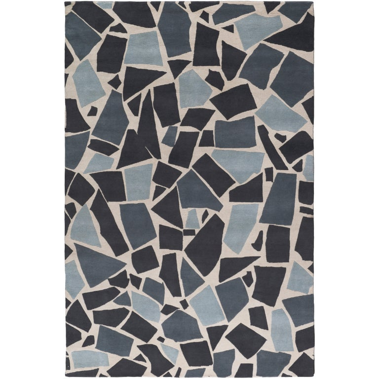 Terrazzo Hand-Knotted 10x8 Rug in Wool by The Rug Company For Sale