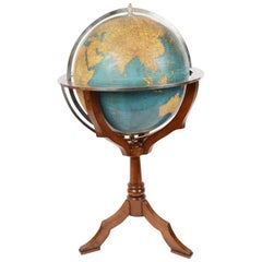 Terrestrial Globe Designed by Vallardi Milan, Early 1950s
