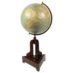 Terrestrial Globe Edited by Columbus by Prof. Ernst Friedrich, 1920s
