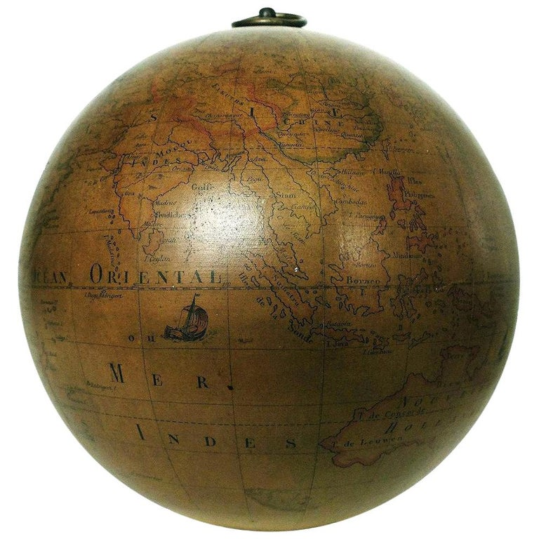 Terrestrial Globe French 18th Century, Swinging Structure For Sale